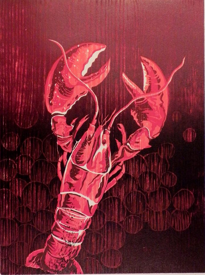 Lobster Woodcut