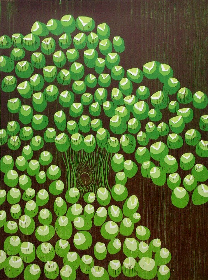 Broccoli Woodcut